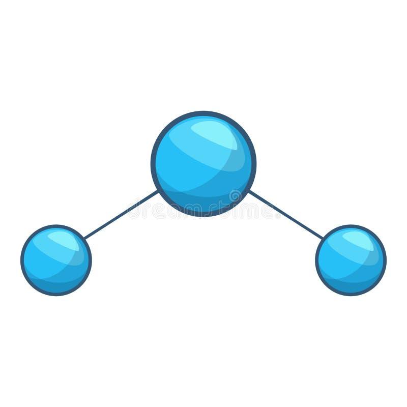 Εικονίδιο μορίων νερού, ύφος κινούμενων σχεδίων διανυσματική απεικόνιση