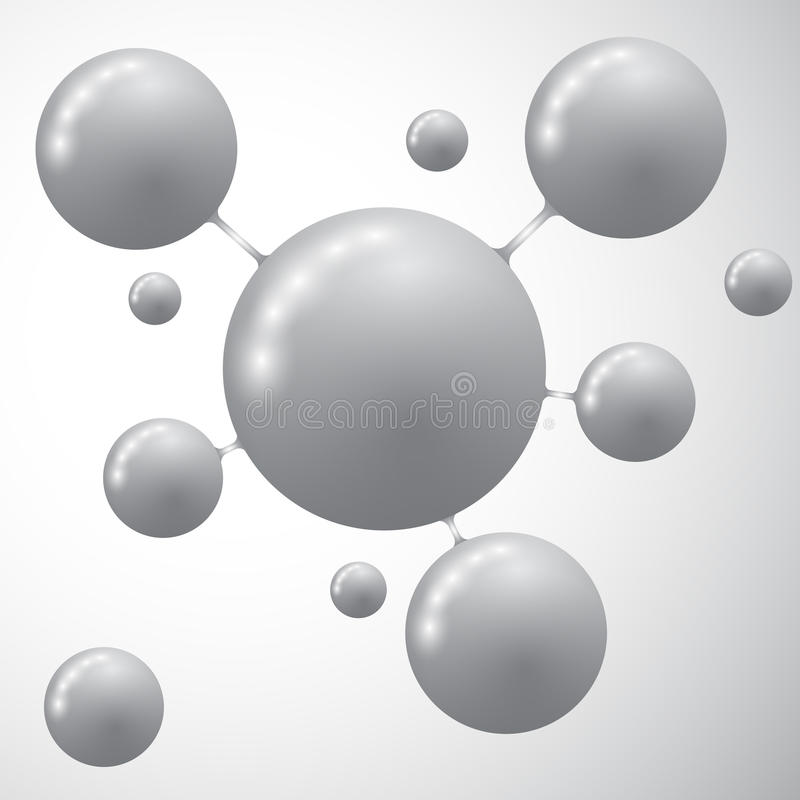 Εικονίδιο μορίων Σύγχρονο πρότυπο για τις επιχειρησιακές έννοιες διανυσματική απεικόνιση
