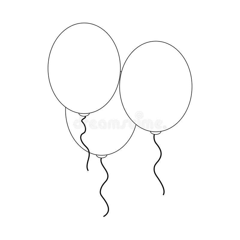 Εικονίδιο μπαλονιών, isometric τρισδιάστατος απεικόνιση αποθεμάτων