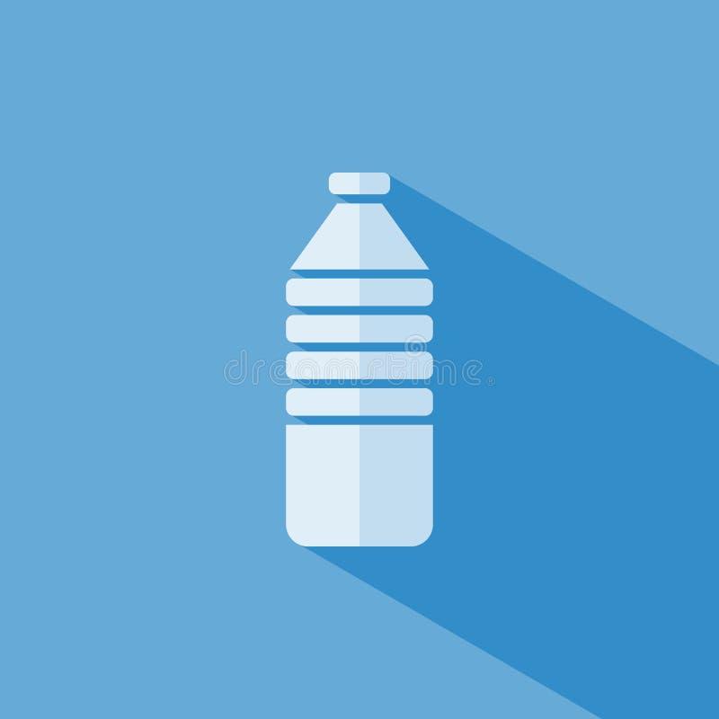 Εικονίδιο μπουκαλιών νερό διανυσματική απεικόνιση