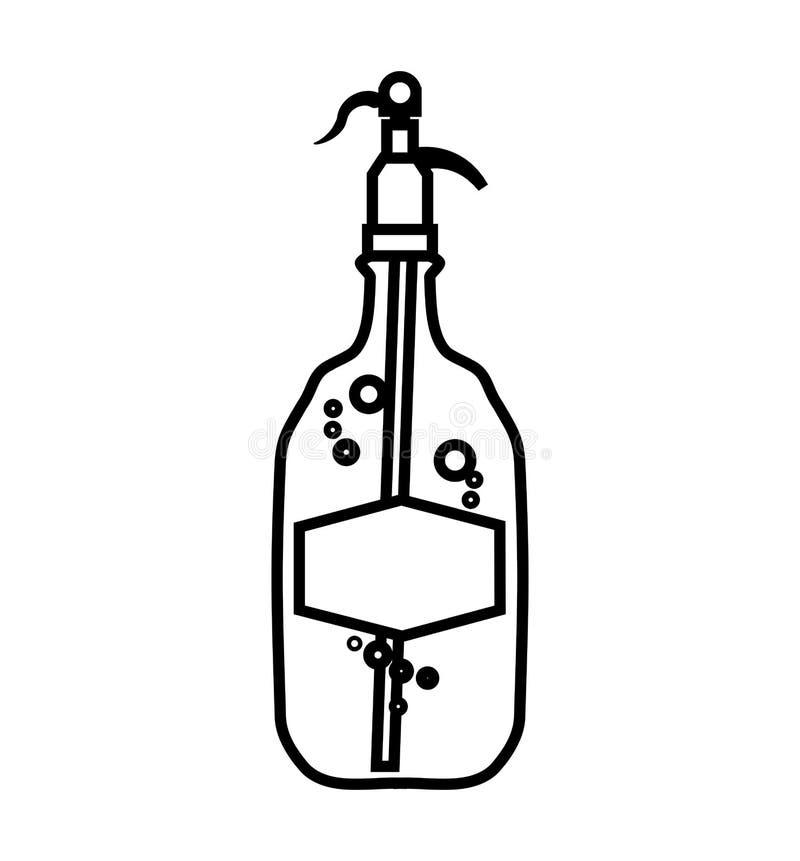 Εικονίδιο μπουκαλιών Σχέδιο σόδας και ποτών σαν διανυσματικά κύματα στροβίλου ανασκόπησης διακοσμητικά γραφικά τυποποιημένα απεικόνιση αποθεμάτων