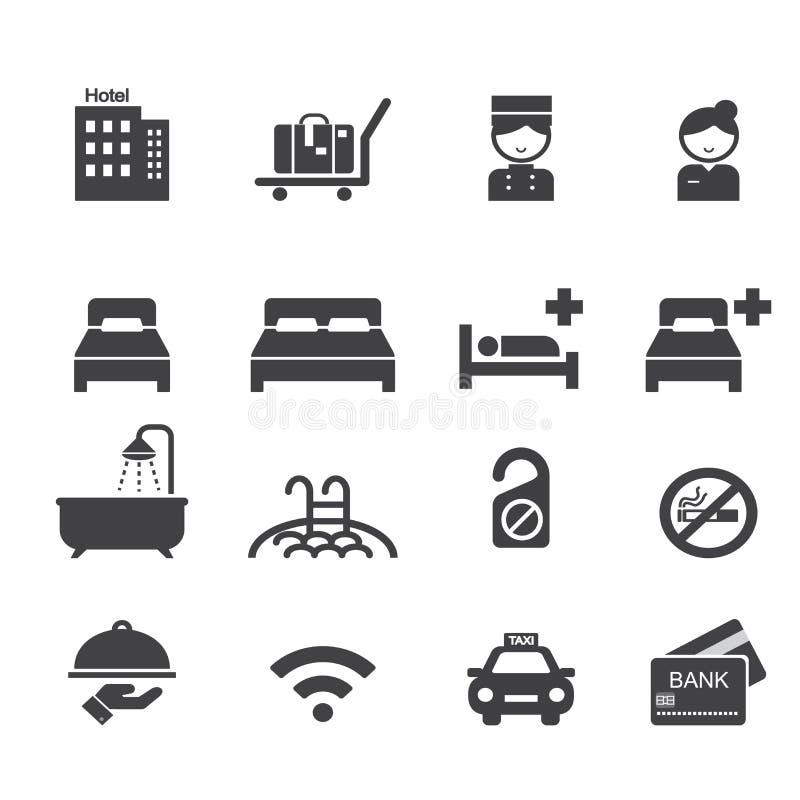Εικονίδιο ξενοδοχείων απεικόνιση αποθεμάτων