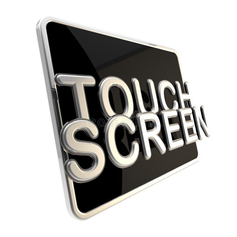Εικονίδιο οθόνης αφής ως στιλπνό μαξιλάρι απεικόνιση αποθεμάτων