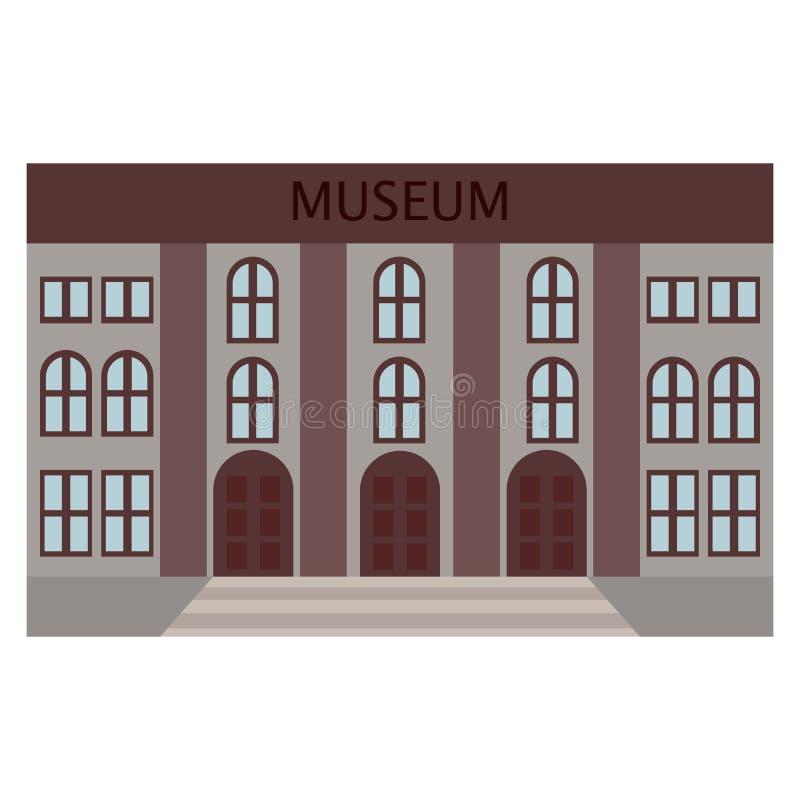 Εικονίδιο οικοδόμησης μουσείων, διανυσματική απεικόνιση ελεύθερη απεικόνιση δικαιώματος