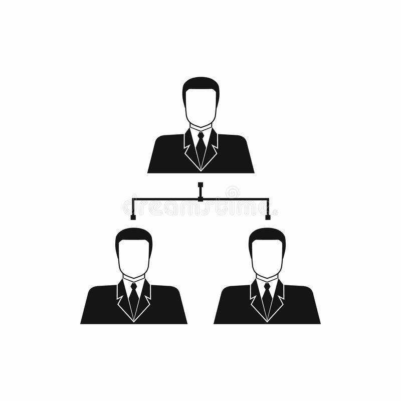 Εικονίδιο δομών επιχείρησης, απλό ύφος ελεύθερη απεικόνιση δικαιώματος