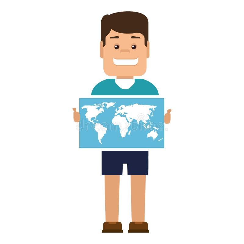 εικονίδιο οδηγών εγγράφου χαρτών διανυσματική απεικόνιση