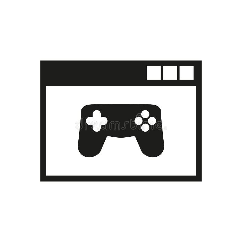 Εικονίδιο παιχνίδι online eps σχεδίου 10 ανασκόπησης διάνυσμα τεχνολογίας σύμβολο τυχερού παιχνιδιού Ιστός γραφικός jpg AI αποστο διανυσματική απεικόνιση