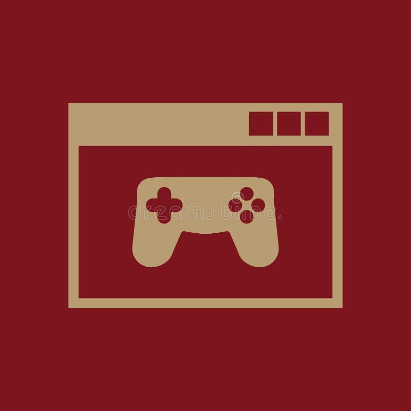 Εικονίδιο παιχνίδι online eps σχεδίου 10 ανασκόπησης διάνυσμα τεχνολογίας τυχερό παιχνίδι, σύμβολο παιχνιδιών Ιστός γραφικός jpg  διανυσματική απεικόνιση