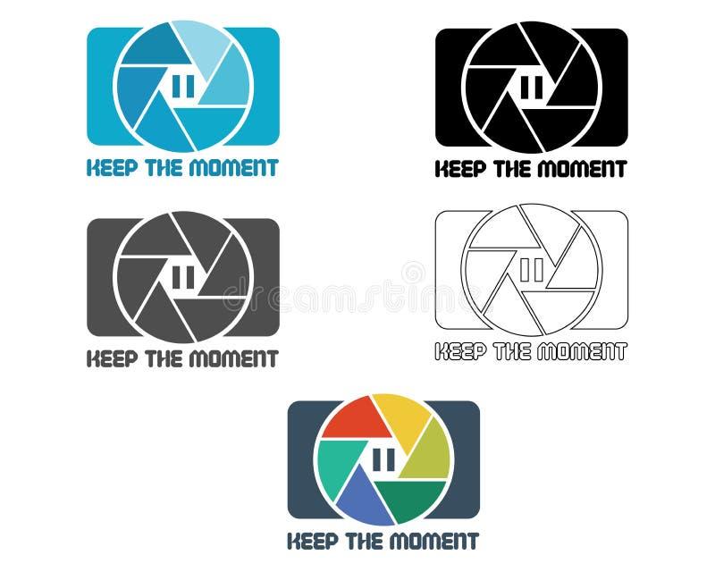 Εικονίδιο παραθυρόφυλλων ή πρότυπο σχεδίου λογότυπων Κάμερα και ελεύθερη απεικόνιση δικαιώματος