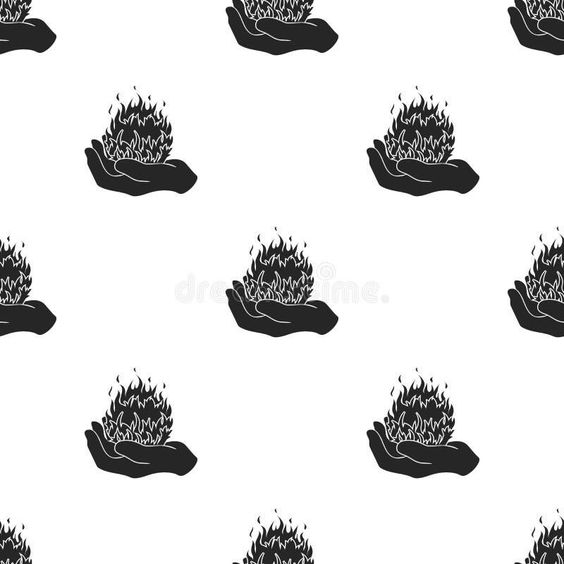 Εικονίδιο περιόδου πυρκαγιάς στο μαύρο ύφος στο άσπρο υπόβαθρο Γραπτή μαγική διανυσματική απεικόνιση αποθεμάτων σχεδίων ελεύθερη απεικόνιση δικαιώματος