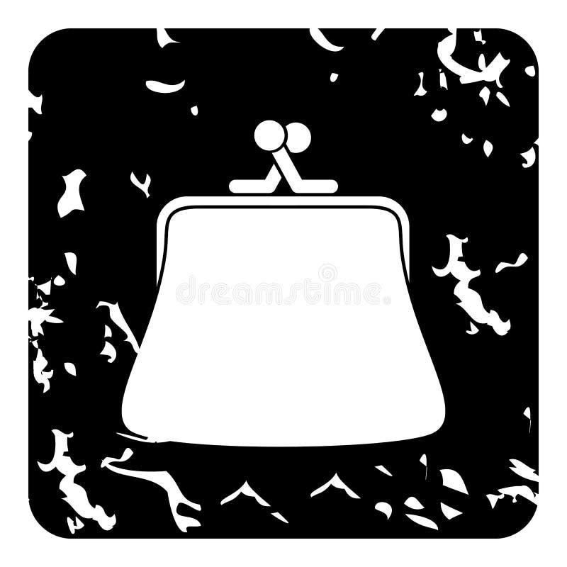 Εικονίδιο πορτοφολιών, grunge ύφος απεικόνιση αποθεμάτων