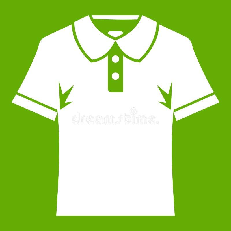 Εικονίδιο πουκάμισων πόλο ατόμων πράσινο διανυσματική απεικόνιση