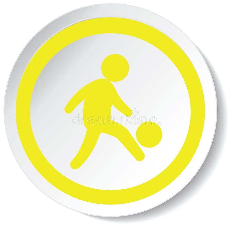 εικονίδιο ποδοσφαιριστών στοκ εικόνες