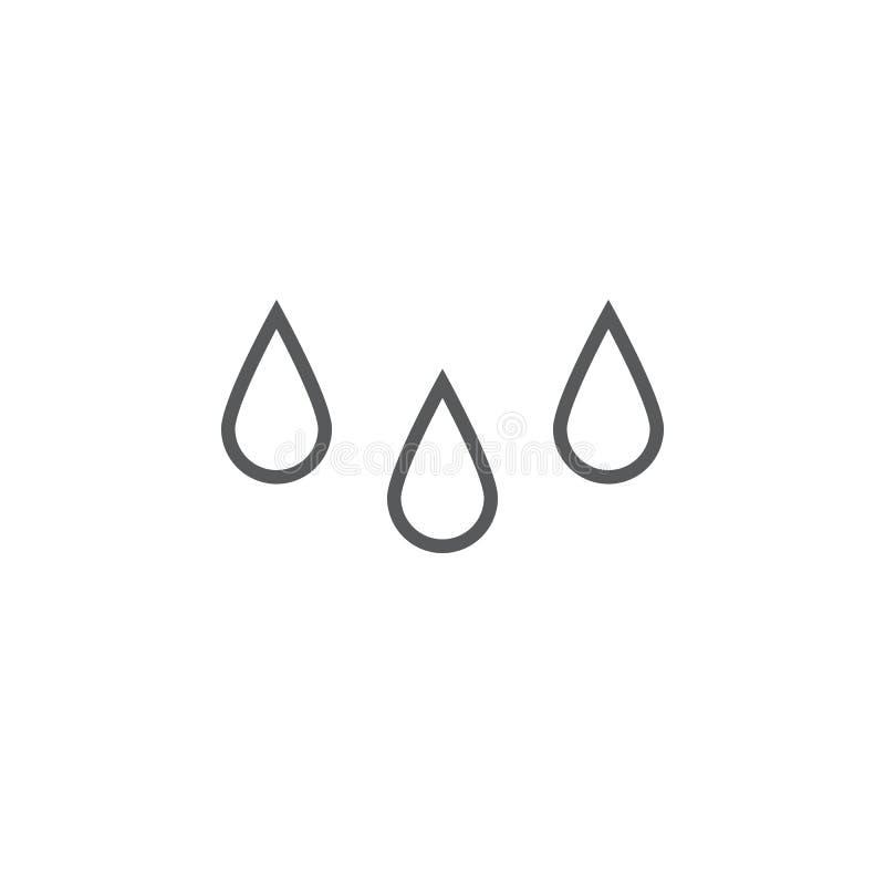 Εικονίδιο πτώσεων βροχής που απομονώνεται στο άσπρο υπόβαθρο για το γραφικό και σχέδιο Ιστού διανυσματική απεικόνιση