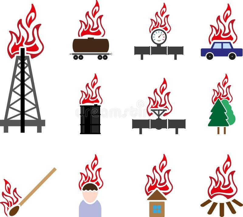 Εικονίδιο πυρκαγιάς ελεύθερη απεικόνιση δικαιώματος