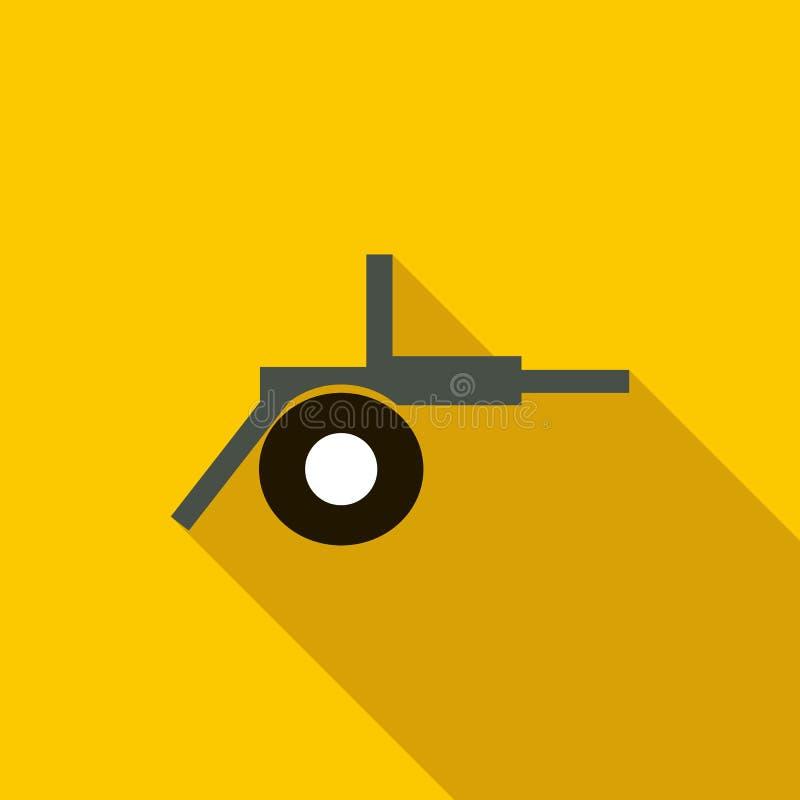 Εικονίδιο πυροβολικού τομέων πυροβόλων, επίπεδο ύφος απεικόνιση αποθεμάτων