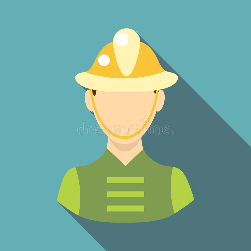 Εικονίδιο πυροσβεστών, επίπεδο ύφος διανυσματική απεικόνιση