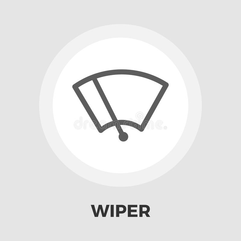 Εικονίδιο πλυντηρίων Windsield επίπεδο διανυσματική απεικόνιση
