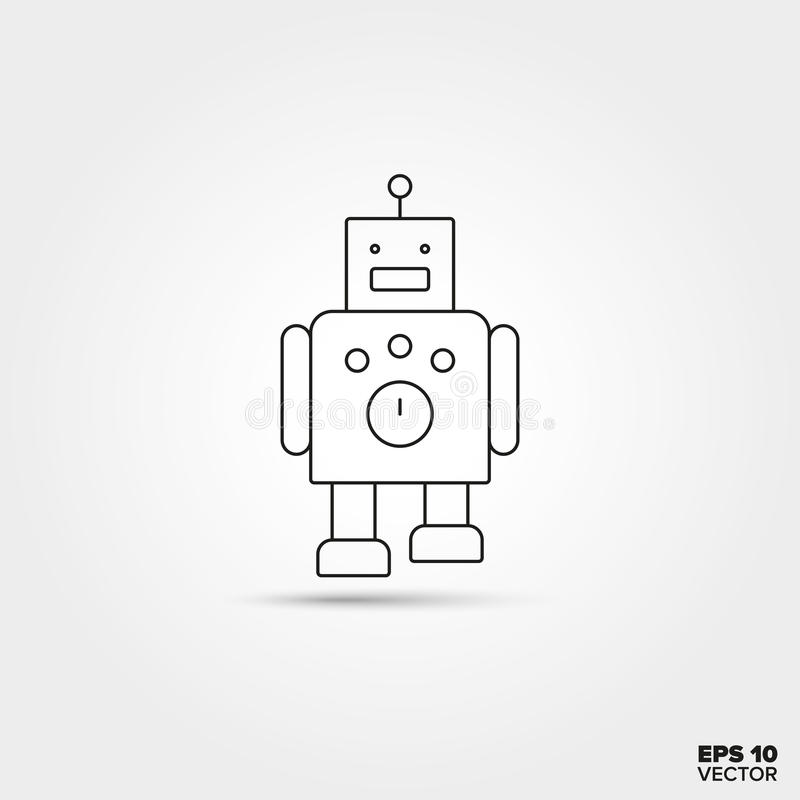 εικονίδιο ρομπότ παιχνιδιών διανυσματική απεικόνιση
