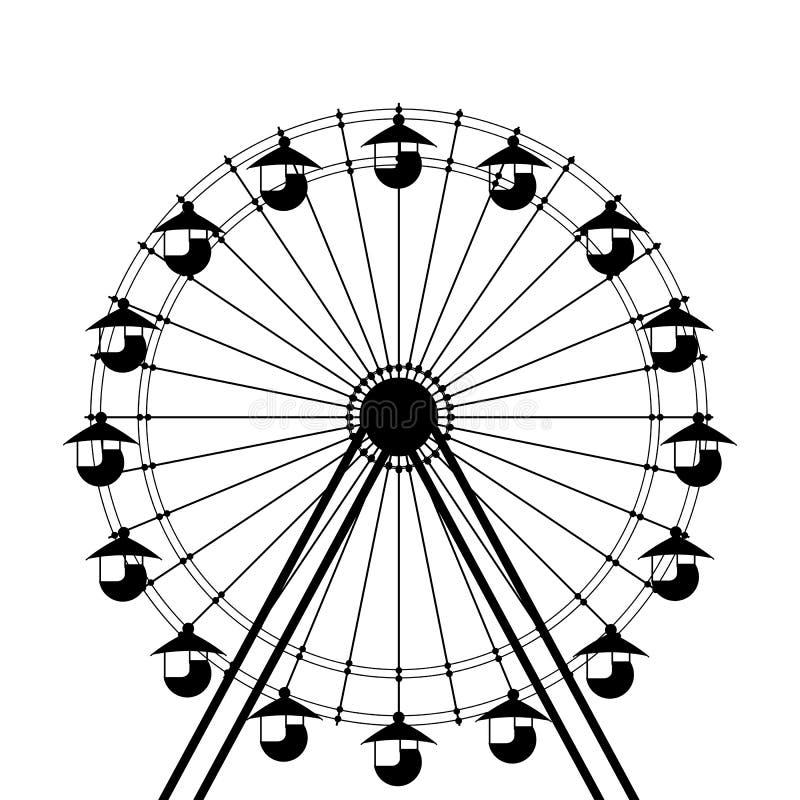 Εικονίδιο ροδών Ferris διανυσματική απεικόνιση