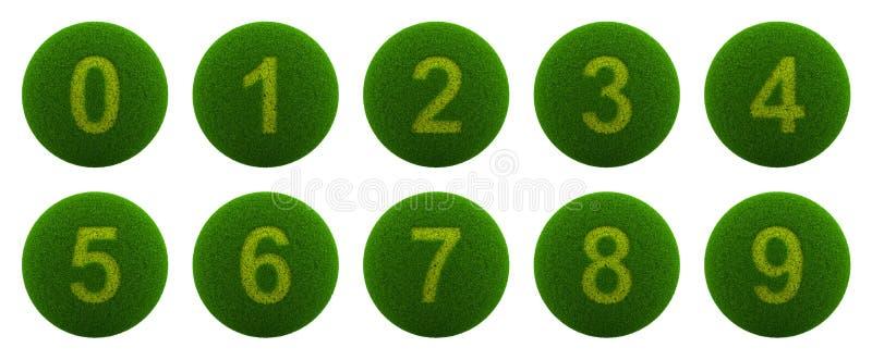 Εικονίδιο σειράς αριθμού σφαιρών χλόης απεικόνιση αποθεμάτων