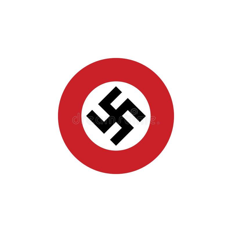 Εικονίδιο σημαιών αγκυλωτών σταυρών διανυσματική απεικόνιση