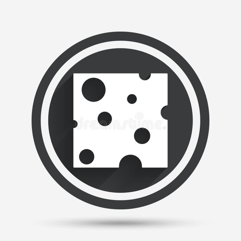 Εικονίδιο σημαδιών τυριών Φέτα του τυριού ελεύθερη απεικόνιση δικαιώματος