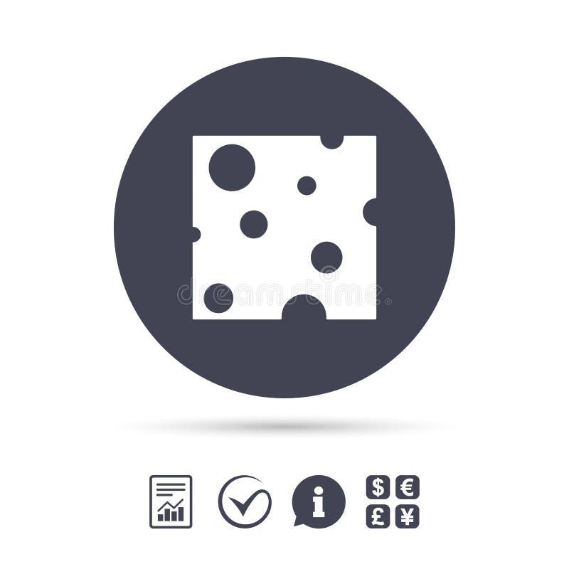 Εικονίδιο σημαδιών τυριών Φέτα του τυριού διανυσματική απεικόνιση