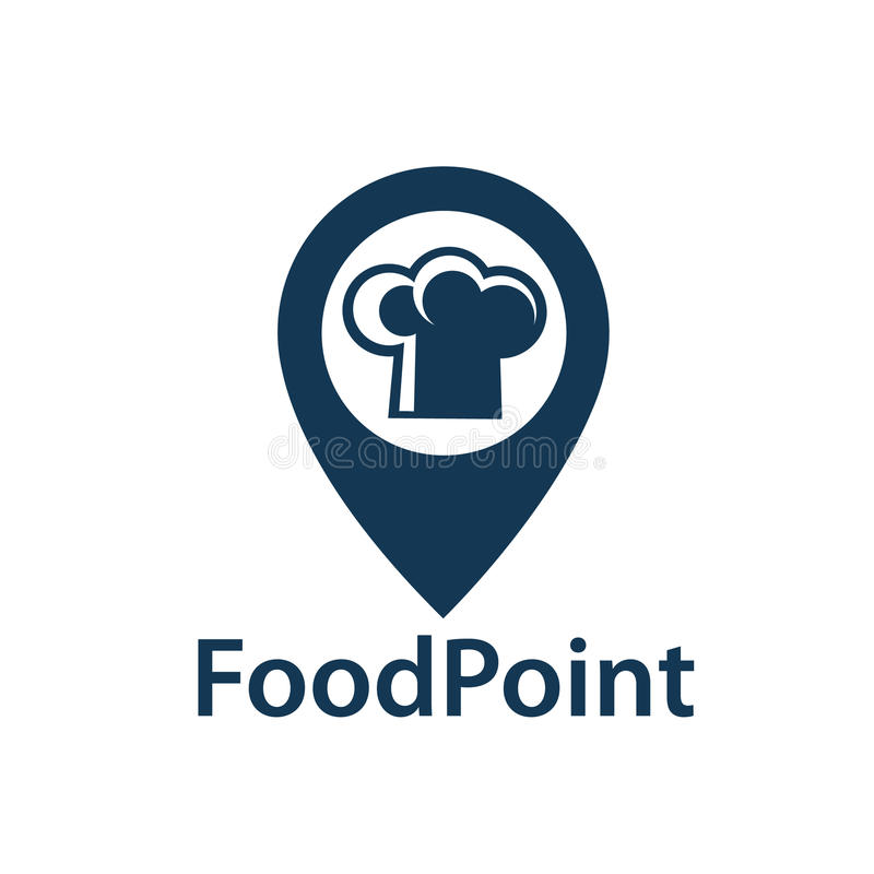 Εικονίδιο σημείου τροφίμων ελεύθερη απεικόνιση δικαιώματος