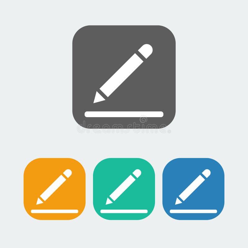 Εικονίδιο σημειώσεων διανυσματική απεικόνιση