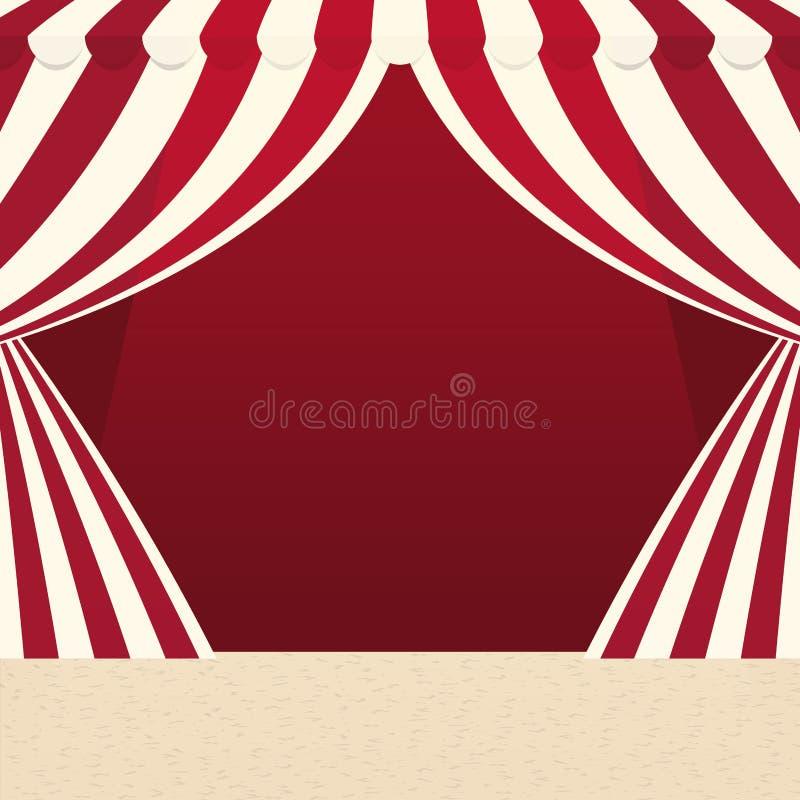 Εικονίδιο σκηνών Τσίρκο και σχέδιο καρναβαλιού σαν διανυσματικά κύματα στροβίλου ανασκόπησης διακοσμητικά γραφικά τυποποιημένα ελεύθερη απεικόνιση δικαιώματος
