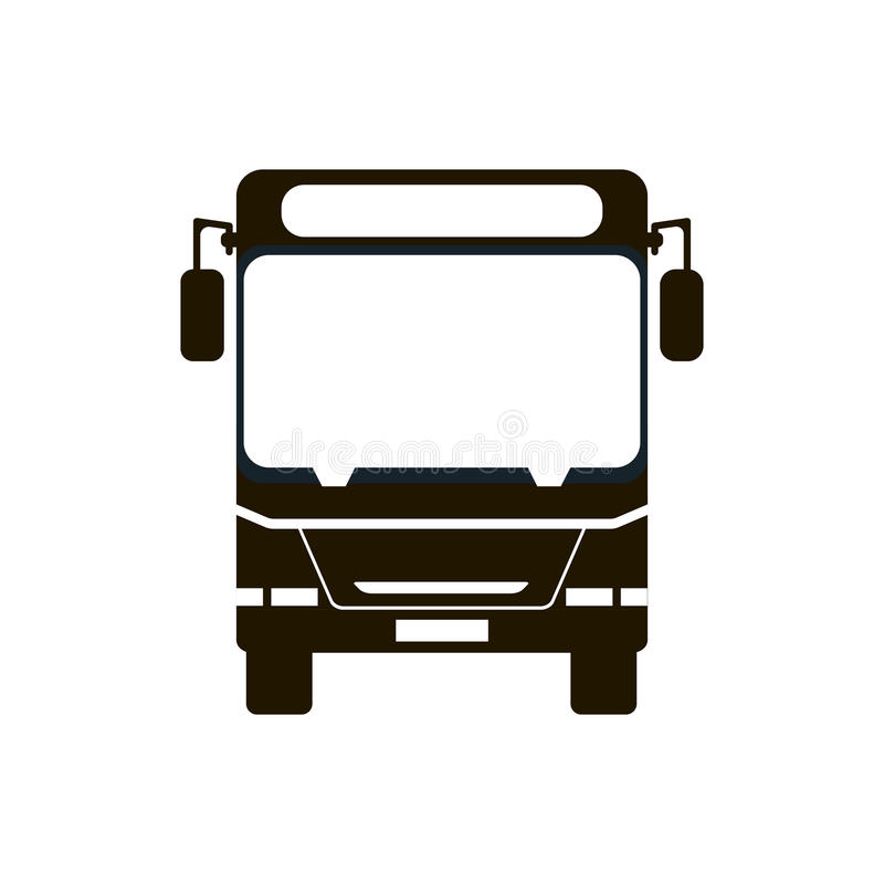 Εικονίδιο στάσεων λεωφορείου απεικόνιση αποθεμάτων