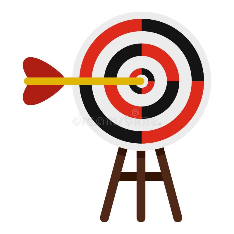 Εικονίδιο στόχων, επίπεδο ύφος διανυσματική απεικόνιση