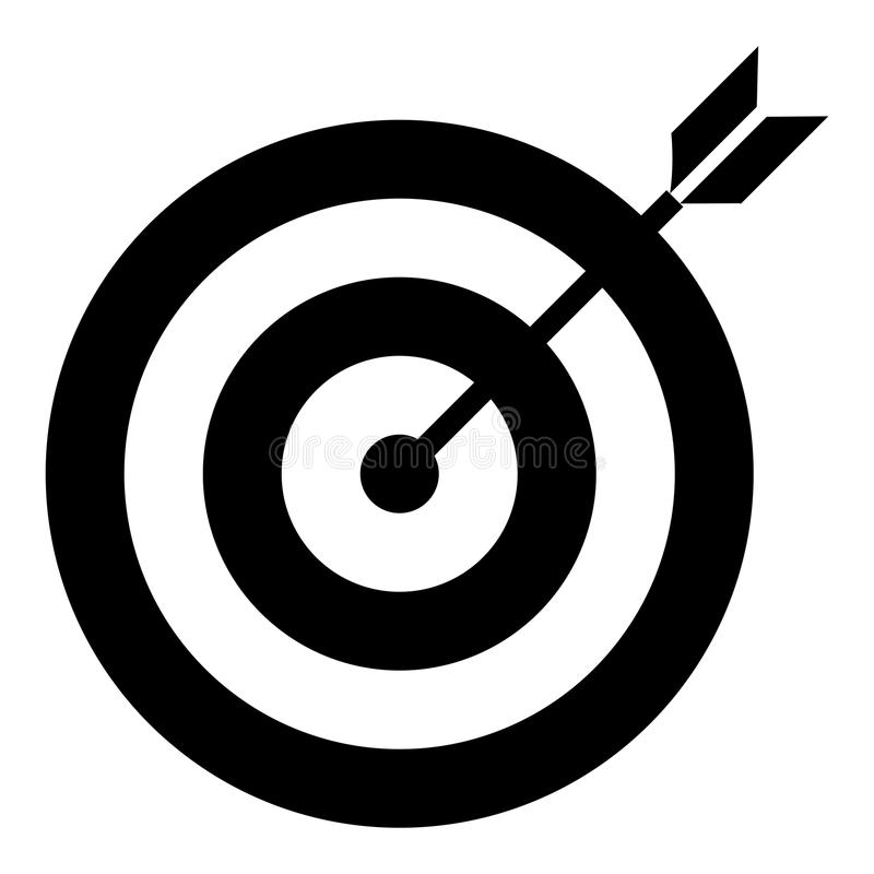 Εικονίδιο στόχων απεικόνιση αποθεμάτων
