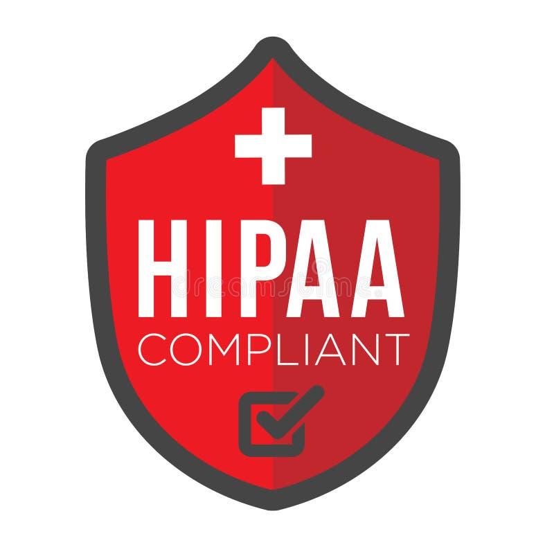 Εικονίδιο συμμόρφωσης HIPAA γραφικό ελεύθερη απεικόνιση δικαιώματος