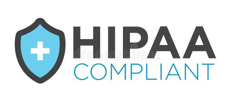 Εικονίδιο συμμόρφωσης HIPAA γραφικό διανυσματική απεικόνιση