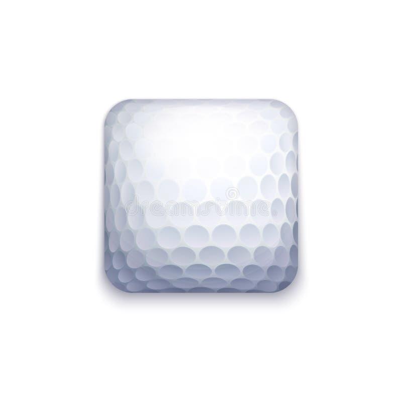 Εικονίδιο σφαιρών γκολφ διανυσματική απεικόνιση