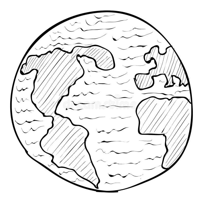 Εικονίδιο σφαιρών, συρμένο χέρι ύφος απεικόνιση αποθεμάτων