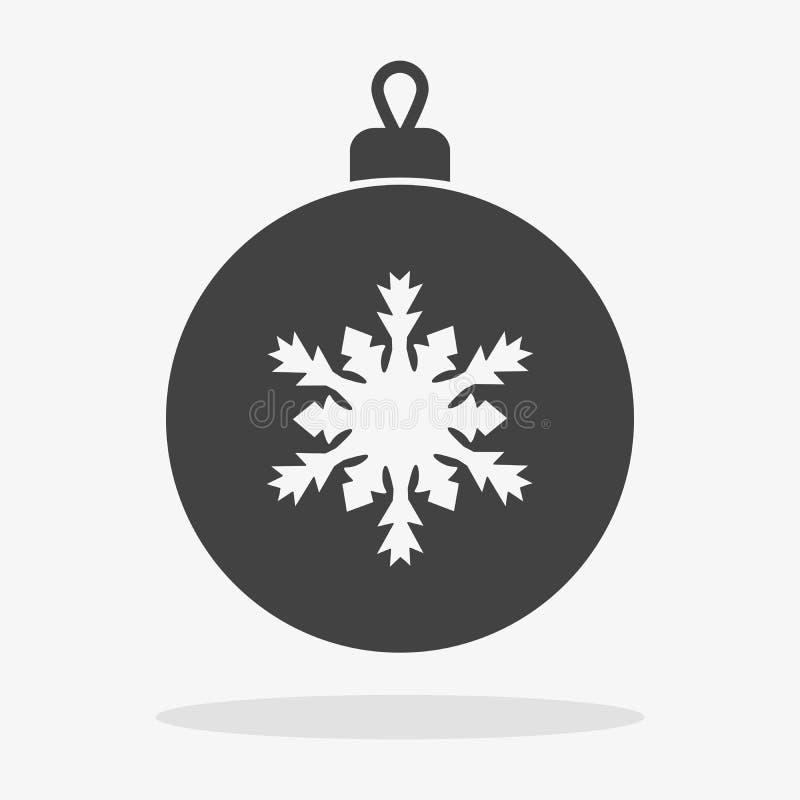 Εικονίδιο σφαιρών Χριστουγέννων επίπεδο διανυσματική απεικόνιση