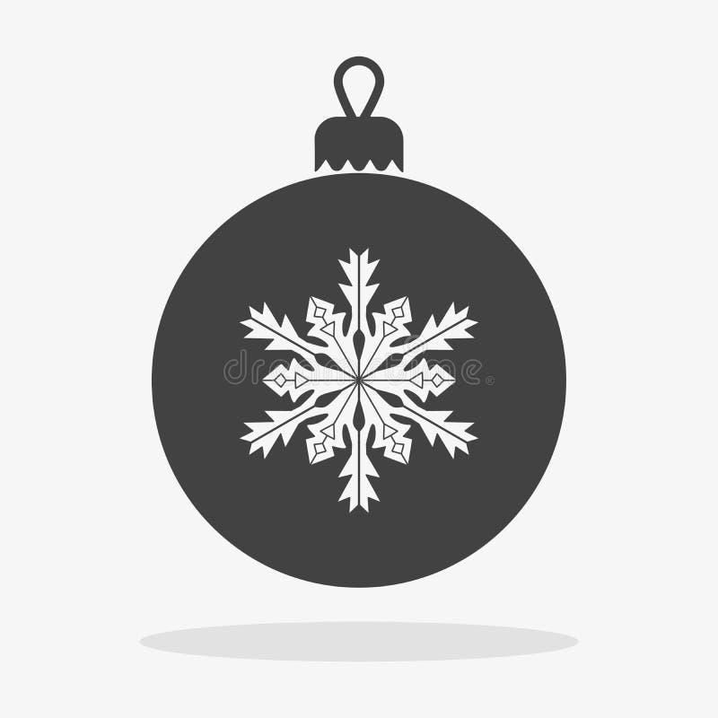 Εικονίδιο σφαιρών Χριστουγέννων επίπεδο ελεύθερη απεικόνιση δικαιώματος