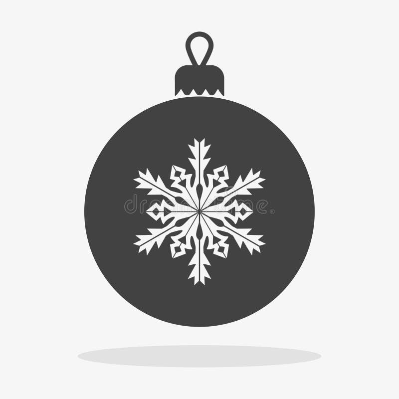 Εικονίδιο σφαιρών Χριστουγέννων επίπεδο απεικόνιση αποθεμάτων