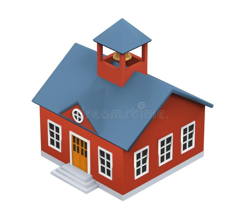 Εικονίδιο σχολικού κτιρίου διανυσματική απεικόνιση