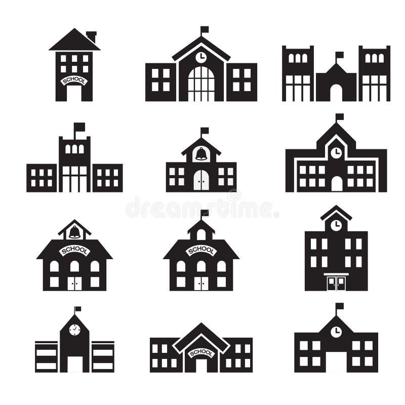 Εικονίδιο σχολικού κτιρίου ελεύθερη απεικόνιση δικαιώματος