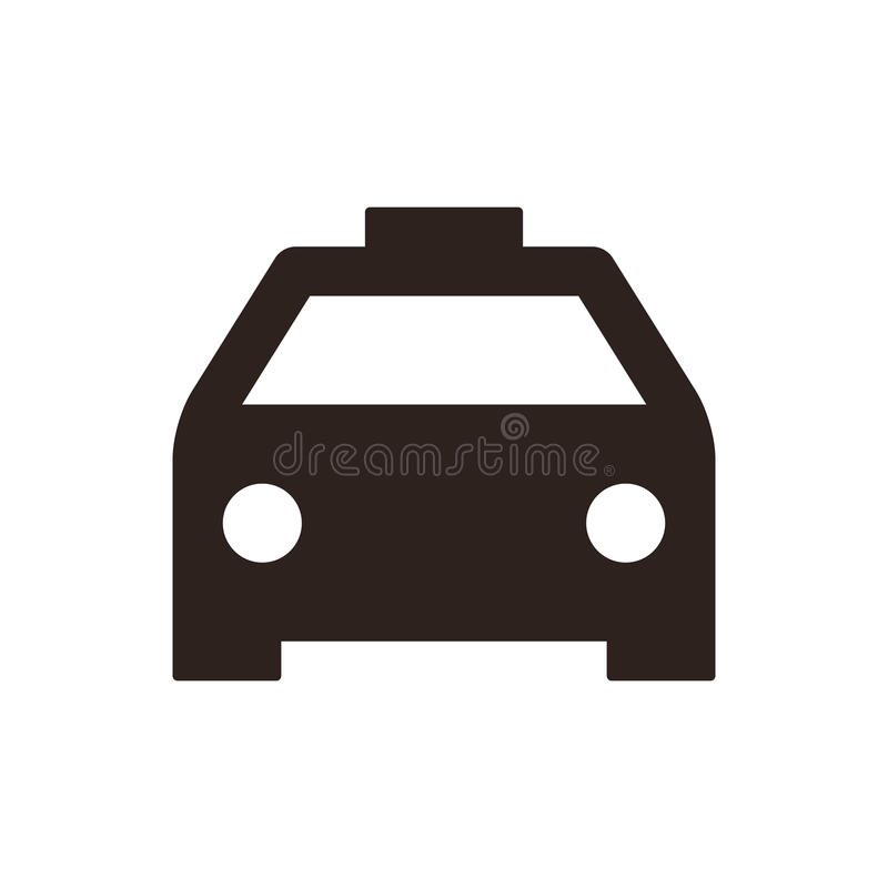 Εικονίδιο ταξί απεικόνιση αποθεμάτων