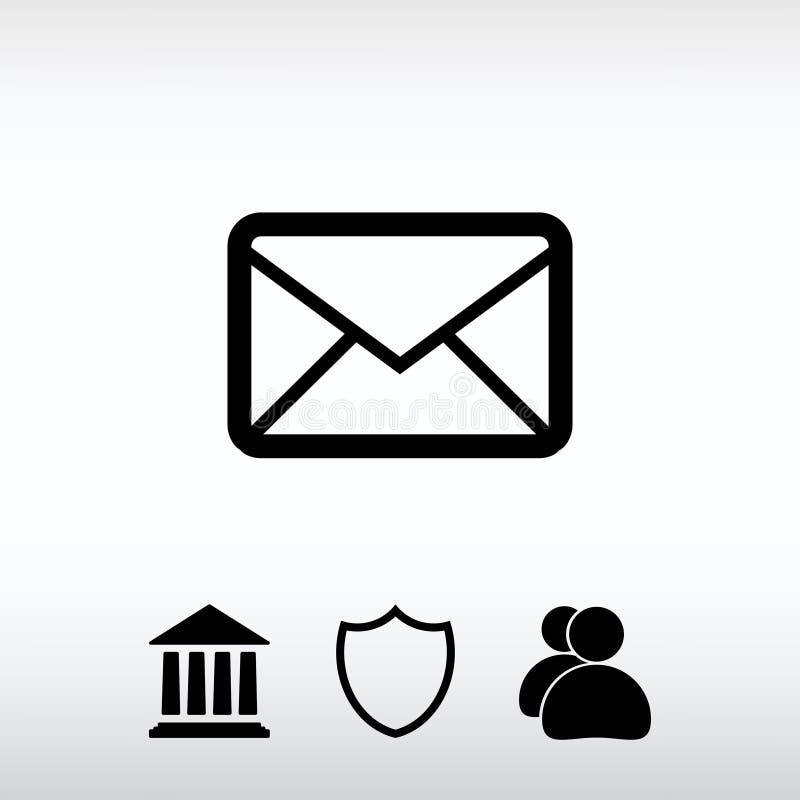 Εικονίδιο ταχυδρομείου φακέλων, διανυσματική απεικόνιση Επίπεδο ύφος σχεδίου διανυσματική απεικόνιση