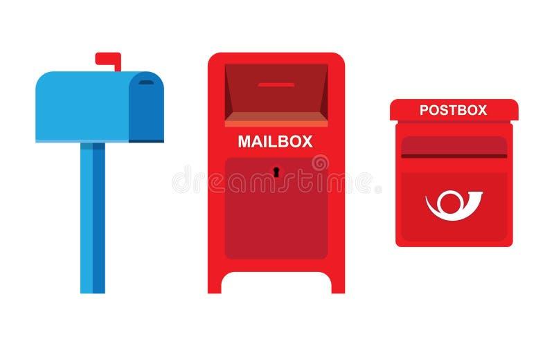 Εικονίδιο ταχυδρομικών θυρίδων διανυσματική απεικόνιση