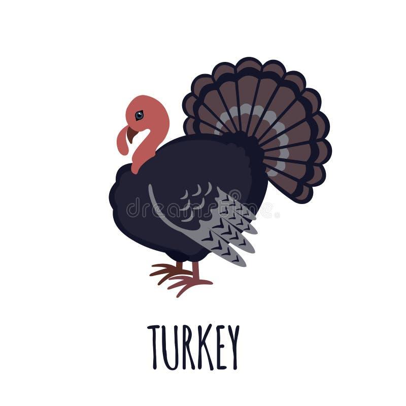 Εικονίδιο της Τουρκίας στο επίπεδο ύφος διανυσματική απεικόνιση