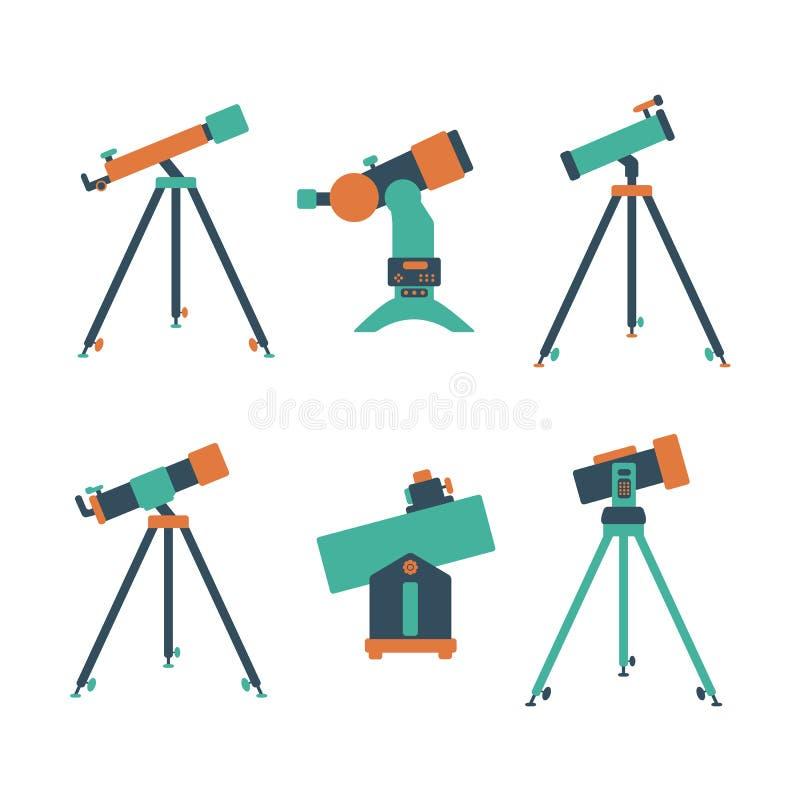 Εικονίδιο τηλεσκοπίων ελεύθερη απεικόνιση δικαιώματος