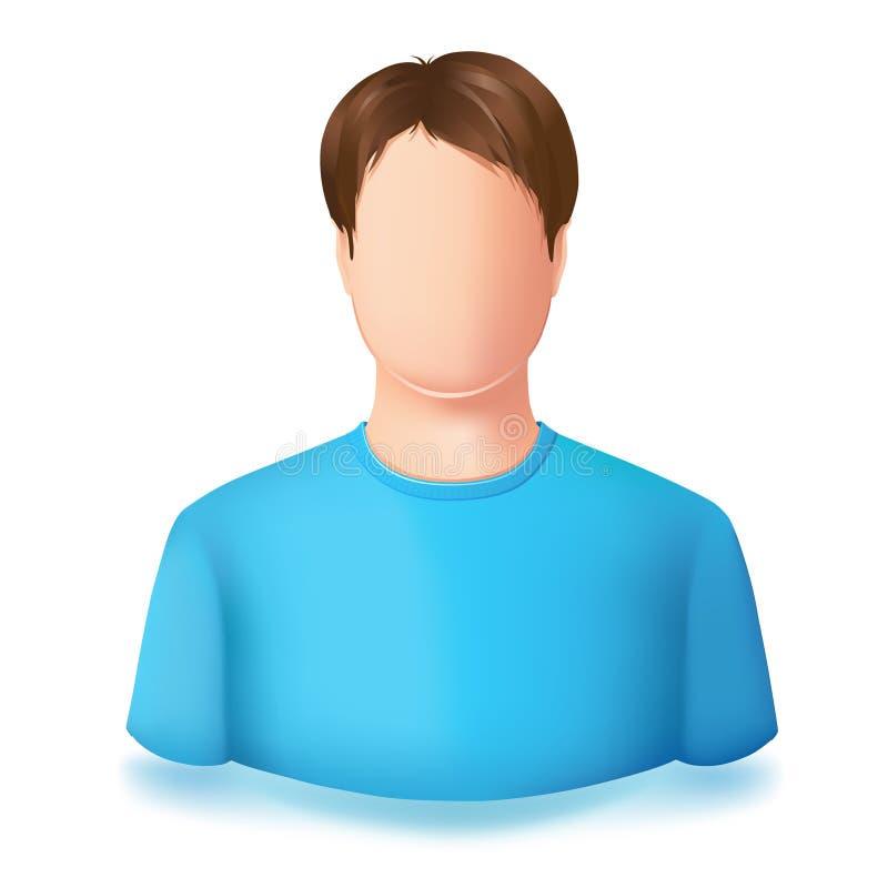 Εικονίδιο του αρσενικού χρηστών Κανένα πρόσωπο διανυσματική απεικόνιση