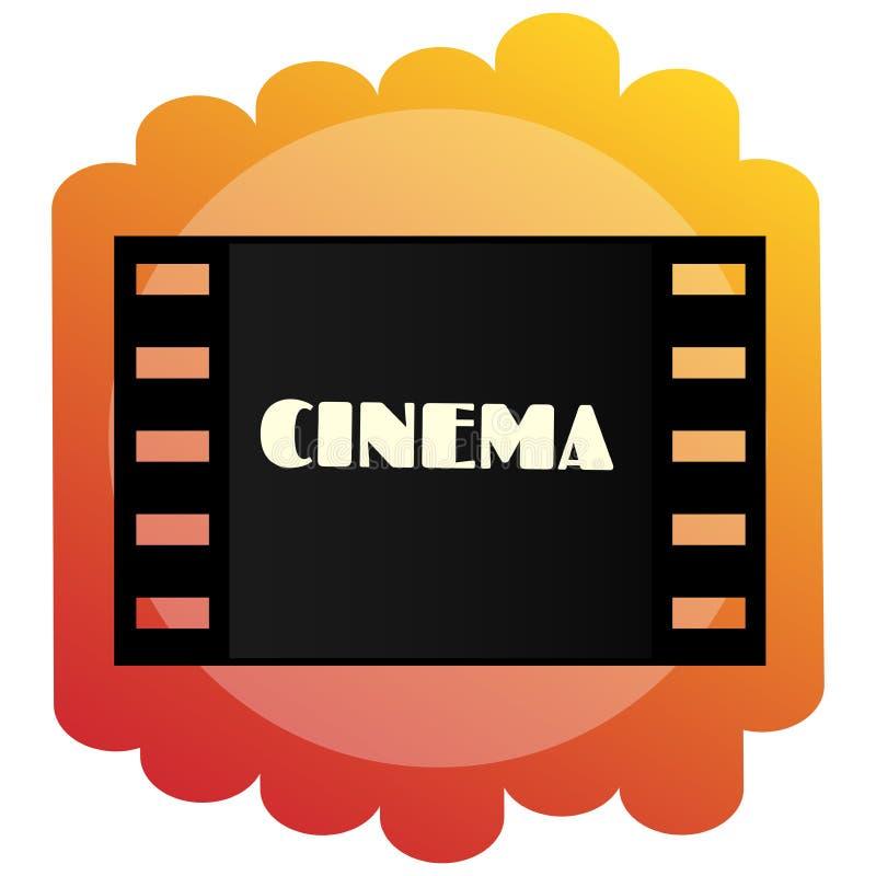 Εικονίδιο του κινηματογράφου Κινηματογραφία και ταινίες απεικόνιση αποθεμάτων